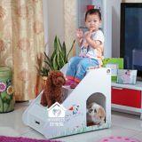 Meubles d'intérieur d'animal familier, avec des tiroirs pour la petite petite Chambre de chiens, empaquetage vente par correspondance (w007A)
