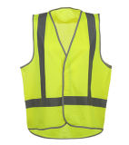 熱い販売の100%年のPloyesterのトリコットの反射安全ベスト