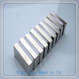 Подгонянный магнит неодимия блока N35 с плакировкой цинка