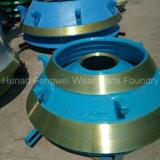 O desgaste de mineração parte o forro da bacia do triturador do cone para H2800