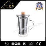 Copo de vidro do vidro do preço de Latte do café de vidro de vidro de Latte do copo do projeto do café do copo de café 400ml bom