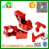 Custom CNC Machined Red Anodized Aluminum Steering Arm Knuckle