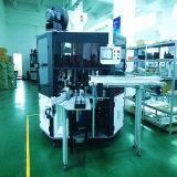 Automatischer runder Oberflächenglasmehrfarbenplastik füllt Gefäß-Bildschirm-Drucken-heiße Aushaumaschine ab