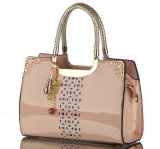 Signora Woman Patent Hobo Handbag dello stilista