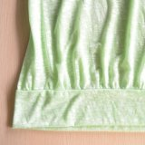 Griller les vêtements de sport verts de loisirs de femmes de tissu