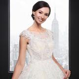 Champagen de luxe A - la ligne lacet de réservoir Appliques la robe de princesse mariage (SL006)