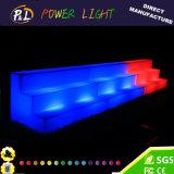 Geleuchtete Ereignis-Möbel-Farbe, die Plastik-LED-Wein-Regal ändert