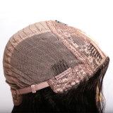 ペルーの人間の毛髪クリップレースの前部U部品のかつらの半分機械なされた及び半分手はなされた方法を、かつらの作成のための125g-225g毛結んだ