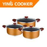 Non-Stick алюминиевый Cookware 6PCS устанавливает (YS-002)
