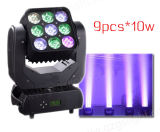 Lumière principale mobile de disco de matrice neuve de l'éclairage 9PCS*10W DEL