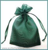 Het Embleem van de Zak van de Gift van Organza van de Zak van Organza Drawstring van de hoogste Kwaliteit keurt goed