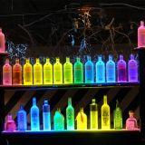 Excellent écran d'affichage à vin acrylique à LED, porte-affiche publicitaire à vin