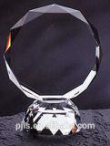 Роскошное круглое кристаллический пожалование трофея свободно изготовленный на заказ логоса