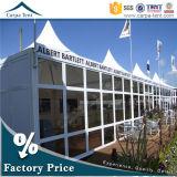 Tente en verre commerciale de pagoda de jardin de l'arrière-cour 6mx6m d'espace libre de structure réadressable d'envergure