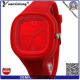 Reloj cristalino del silicón de la jalea de las señoras de las mujeres del cuarzo del nuevo silicón de la manera Yxl-983