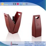 Caixa de presente de vinho tinto de couro de design exclusivo (4615R11)