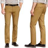 Los hombres del OEM de color caqui Delgado-Cupieron los pantalones ocasionales del algodón del estiramiento