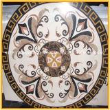 Medaglione Waterjet di pietra di marmo naturale, reticolo del medaglione
