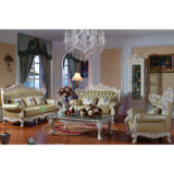 Side Table와 Cabinet (506C)를 가진 목제 Sofa