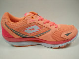 新しいデザイン女性オレンジ運動ハイキングの履物