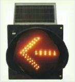 De Verkeersteken van de zonne LEIDENE Pijl van de Richting