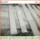 Le dessus blanc extérieur solide de vanité de quartz avec Back&Side éclabousse