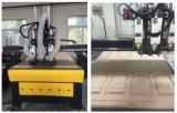Máquina do CNC com auto sistema do eixo da mudança para o Woodworking