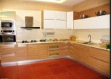 Gabinete de cozinha lustroso do MDF mini (ZHUV)