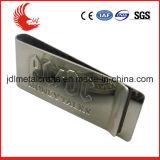 Clip promotionnel Shaped d'argent en métal de coutume matérielle d'acier inoxydable