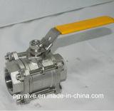 CF8 шариковый клапан женщины Ss304 3PC с API 6D