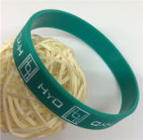 Wristband personalizado durável do silicone da forma Eco-Friendly