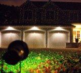 Luz laser de la estrella de la noche, luces laser rojas/del verde de la Navidad al aire libre