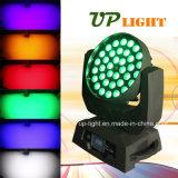 36*18W RGBWA紫外線6in1 LEDのズームレンズの洗浄発動機