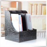 Support de bureau blanc en cuir de fichier de tiroir d'étagère d'unité centrale de qualité