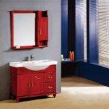 Gabinete de cuarto de baño de madera derecho del piso de la alta calidad