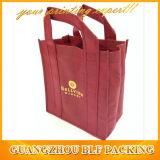Sacs à provisions recyclables non tissés de vin (BLF-NW249)
