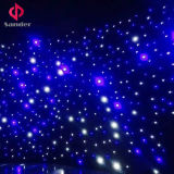 LEDの空の音楽コンサートのためのきらめく星の布のカーテン、ホテルの装飾