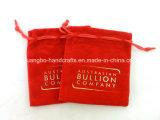 Pequeñas bolsas de encargo del regalo del terciopelo