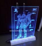 Tablilla de anuncios de encargo de LED del acrílico