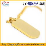 Förderndes Reflective Gold Plate Zinc Alloy Metal Dog Tag für Decoration
