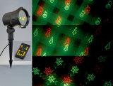 De Decoratie van Kerstmis, de Lichten van Kerstmis van de Laser, het Licht van de Douche van de Laser