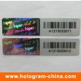 3D Laser 반대로 가짜 Barcode 홀로그램 스티커