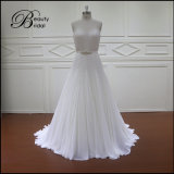 A - Zeile Raupen und Kristall-Brauthochzeits-Kleid