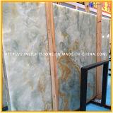 自然な建築材料の石のタイルまたは壁のクラッディングのための青いオニックスの平板