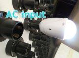 Rundes LED Birnen-Licht AC/DC/Solar der Sonnenenergie-eingegeben mit Sonnenkollektor-Aufladeeinheit 1001-18