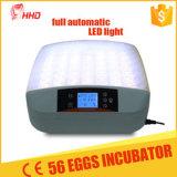 Hhd neuer Ankunfts-Ei-Prüfungs-Funktions-kleiner automatischer 56 Ei-Huhn-Ei-Inkubator in der Förderung