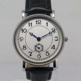 Relógio da cinta de couro de classe elevada