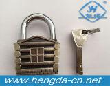 Mini cadeado da chave do projeto da casa do cadeado 4 da liga do zinco da segurança da bagagem Yh9212