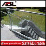 Balustrade en verre d'escaliers intérieurs d'acier inoxydable (DD138)