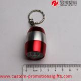 Pequeña linterna linda de las baterías LED del caso de aluminio con Keychain